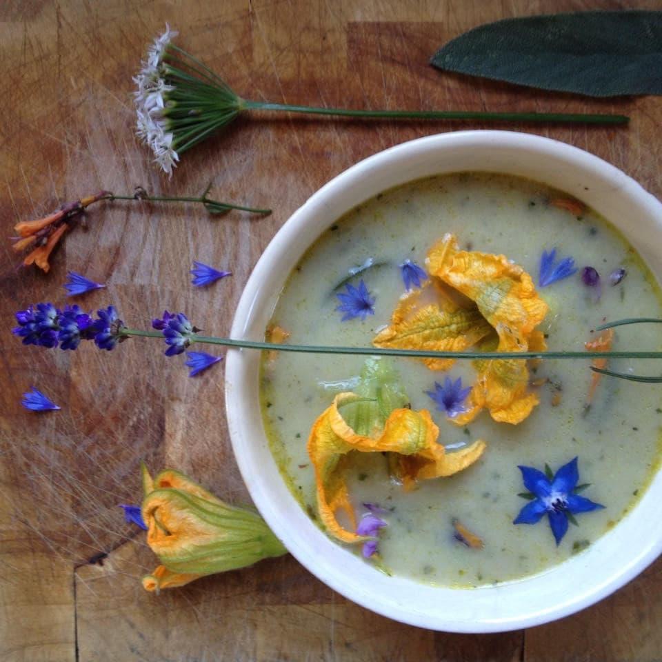 preisoep met lavendel